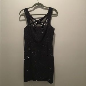 Black sparkly special occasions dress